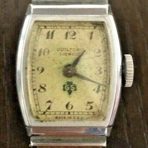 Guilford 7 jewels Girl Scouts Watch 1947 vintage